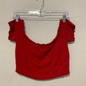 Forever21 Red Crop Top
